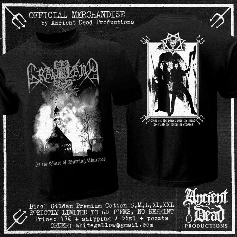 GRAVELAND In The Glare Of Burning Churches T-SHIRT