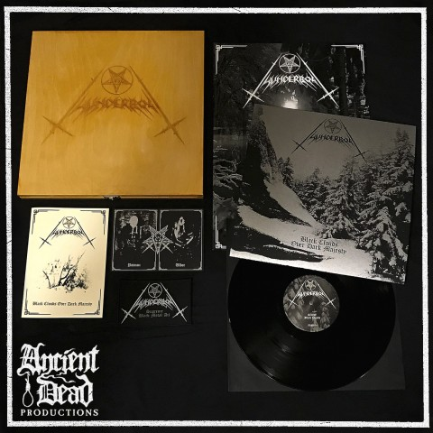 THUNDERBOLT Black Clouds Over Dark Majesty VINYL WOODEN BOX