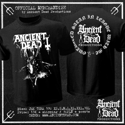 ANCIENT DEAD Outdated Satan In League With Me T-SHIRT